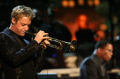 Musician Chris Botti on stage at The Thelonious Monk Institute of Jazz and The Recording Academy Los Angeles chapter honoring Herbie Hancock all star...