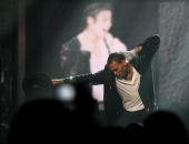 Musician Chris Brown performs a Michael Jackson tribute onstage during the 2010 BET Awards held at the Shrine Auditorium on June 27 2010 in Los...