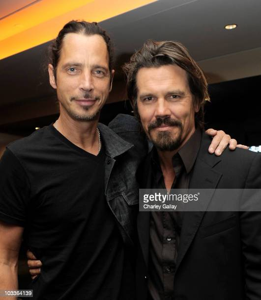 Musician Chris Cornell and actor Josh Brolin attend a special screening of The Weinstein Company's 'The Tillman Story' at the Pacific Design Center...