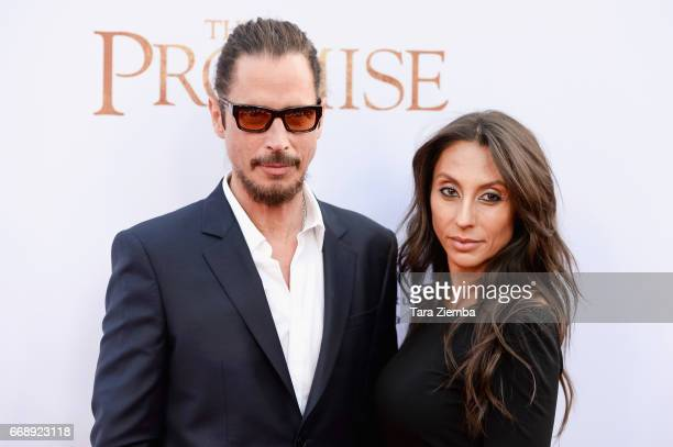 Musician Chris Cornell and Vicky Karayiannis arrive to the Los Angeles premiere of 'The Promise' at TCL Chinese Theatre on April 12 2017 in Hollywood...