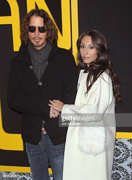 Musician Chris Cornell and wife Vicky Karayiannis attend the 'American Hustle' screening at Ziegfeld Theater on December 8 2013 in New York City
