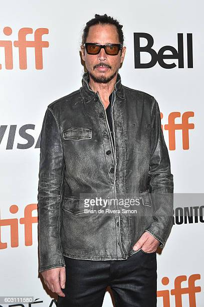 Musician Chris Cornell attends 'The Promise' premiere during 2016 Toronto International Film Festival at Roy Thomson Hall on September 11 2016 in...