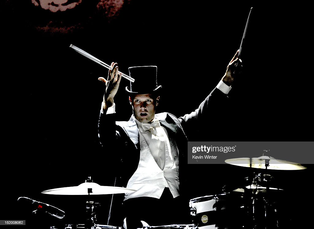 Musician Chris Dangerous of The Hives performs at the Wiltern Theater on September 14, 2012 in Los Angeles, California.