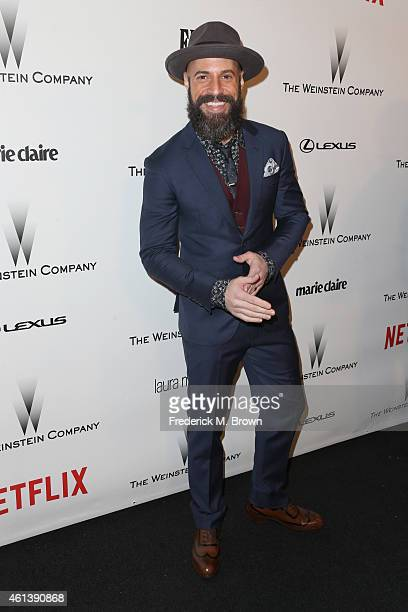 Musician Chris Daughtry attends the 2015 Weinstein Company and Netflix Golden Globes After Party at Robinsons May Lot on January 11 2015 in Beverly...