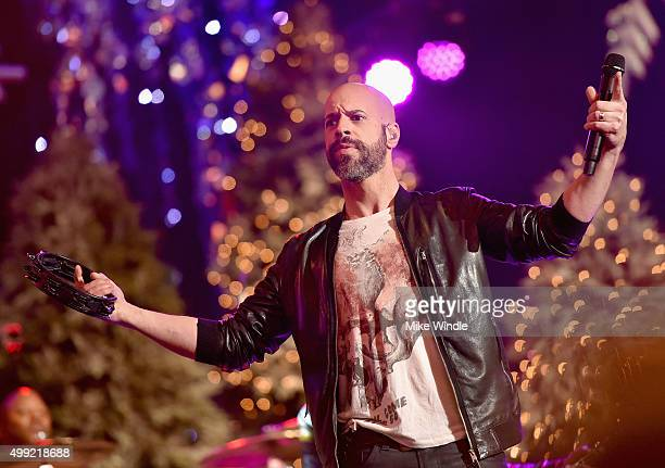 Musician Chris Daughtry performs onstage during the 2015 Hollywood Christmas Parade on November 29 2015 in Hollywood California