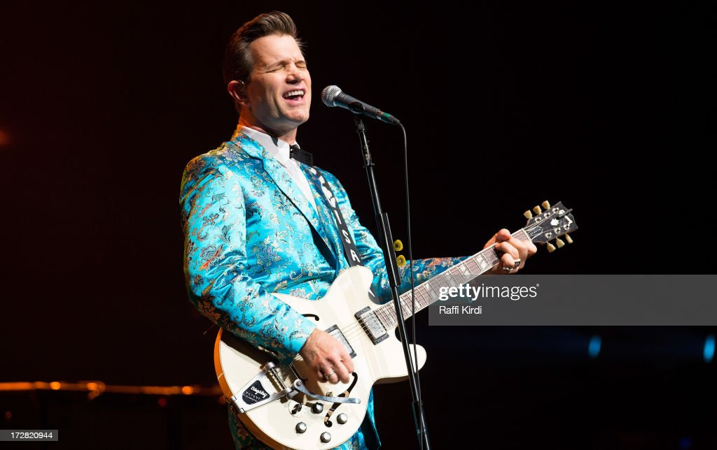 Musician Chris Isaak performs during day seven of 2013 Festival International de Jazz de Montreal on July 4, 2013 in Montreal, Canada.