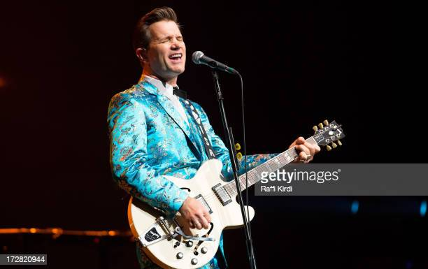 Musician Chris Isaak performs during day seven of 2013 Festival International de Jazz de Montreal on July 4 2013 in Montreal Canada