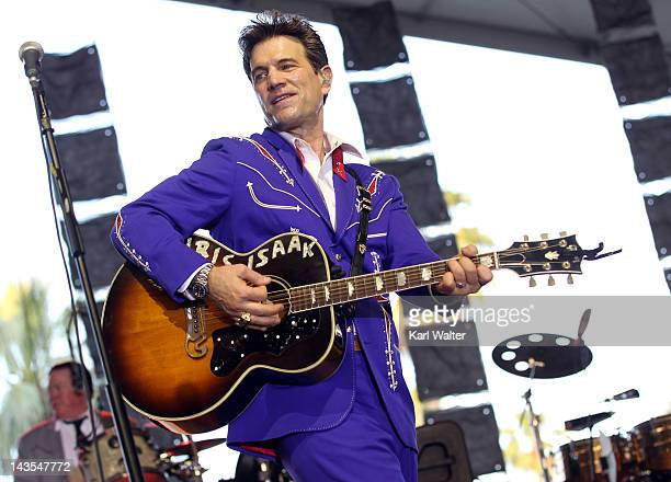 Musician Chris Isaak performs onstage during the Stagecoach Country Music Festival held at the Empire Polo Field on April 28 2012 in Indio California