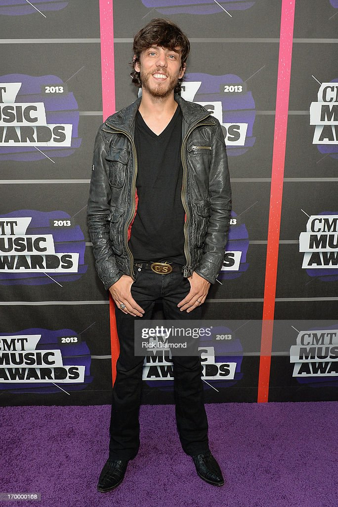 Musician <a gi-track='captionPersonalityLinkClicked' href=/galleries/search?phrase=Chris+Janson&family=editorial&specificpeople=2082639 ng-click='$event.stopPropagation()'>Chris Janson</a> attends the 2013 CMT Music awards at the Bridgestone Arena on June 5, 2013 in Nashville, Tennessee.