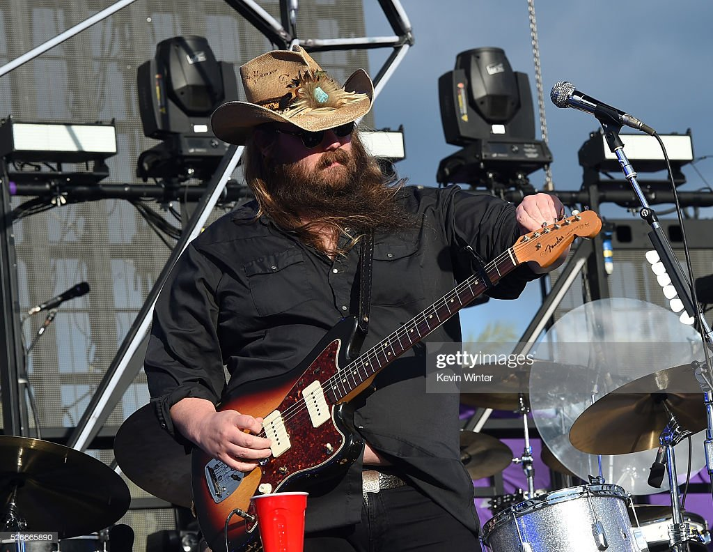 Musician Chris Stapleton performs onstage during 2016 Stagecoach California's Country Music Festival at Empire Polo Club on April 30, 2016 in Indio, California.