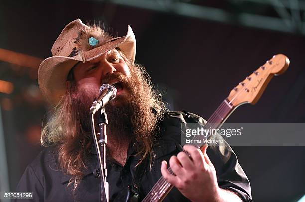 Musician Chris Stapleton performs onstage during day 3 of the 2016 Coachella Valley Music And Arts Festival Weekend 1 at the Empire Polo Club on...
