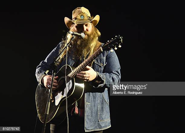 Musician Chris Stapleton performs onstage during Lucian Grainge's 2016 Artist Showcase Presented by American Airlines and Citi at The Theatre at Ace...