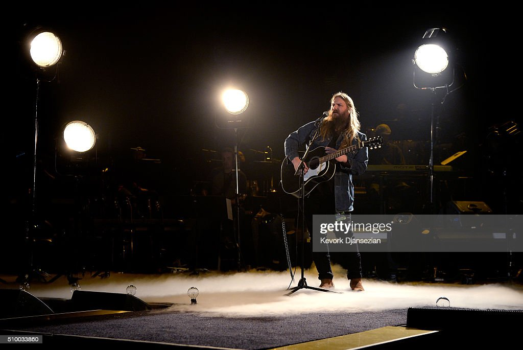 Musician <a gi-track='captionPersonalityLinkClicked' href=/galleries/search?phrase=Chris+Singleton&family=editorial&specificpeople=241555 ng-click='$event.stopPropagation()'>Chris Singleton</a> rehearses onstage during the 2016 MusiCares Person Of The Year honoring Lionel Richie at Los Angeles Convention Center on February 13, 2016 in Los Angeles City.