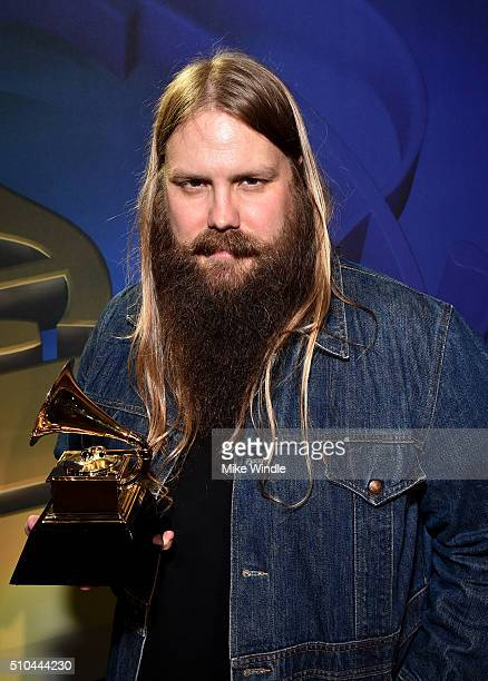 Musician Chris Stapleton winner of Best Country Solo Performance for 'Traveller' attends the GRAMMY PreTelecast at The 58th GRAMMY Awards at...