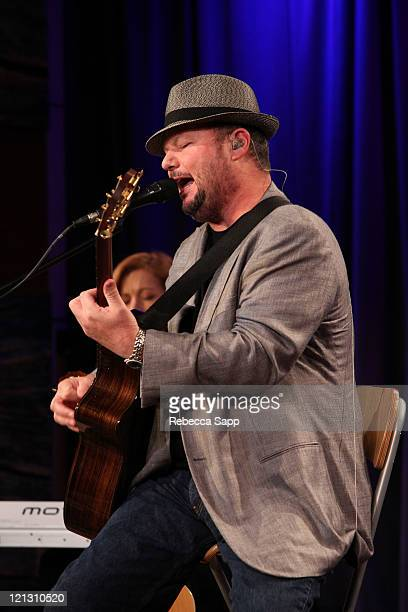 Musician Chrisotpher Cross performs during An Evening with Christopher Cross at The GRAMMY Museum on August 17 2011 in Los Angeles California