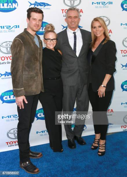 Musician Christian Hebel actress Rachael Harris radio host Robert F Kennedy Jr and actress Cheryl Hines attend Keep it Clean Live Comedy Benefit for...