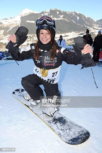 Musician Christina Stuermer at the Kitzbuehel Charity Race on January 23 2010 in Kitzbuehel Austria