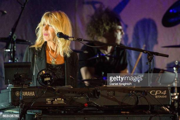 Musician Christine McVie performs on stage at Humphrey's on October 19 2017 in San Diego California