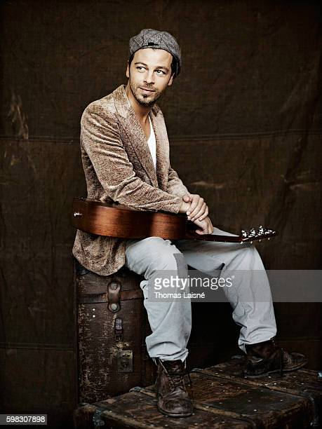 Musician Christophe Mae is photographed for Self Assignment on February 23 2010 in Paris France
