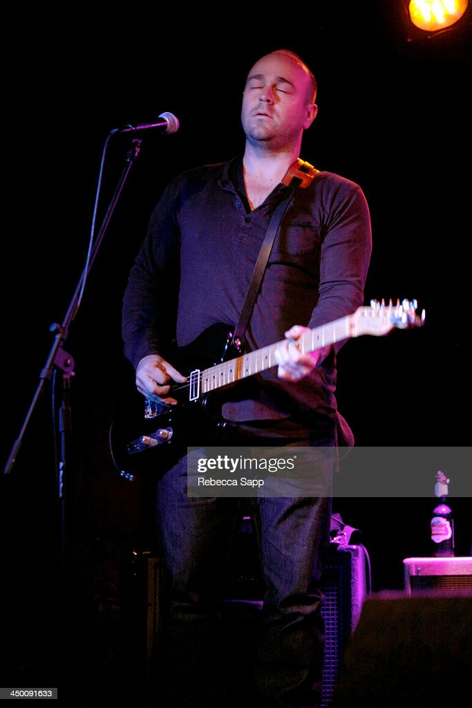 Musician Christopher Harrison of Geronimo Getty performs onstage at El Cid on November 15, 2013 in Los Angeles, California.