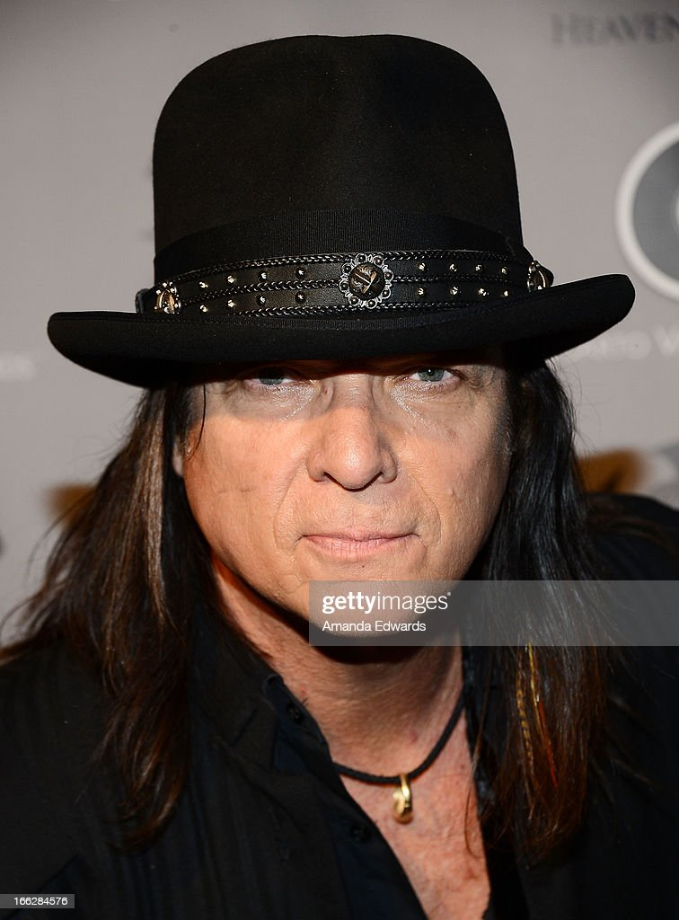 Musician Chuck Wright of the band Heaven and Earth arrive at the Heaven and Earth 'Dig' world premiere album release party at The Fonda Theatre on April 10, 2013 in Los Angeles, California.