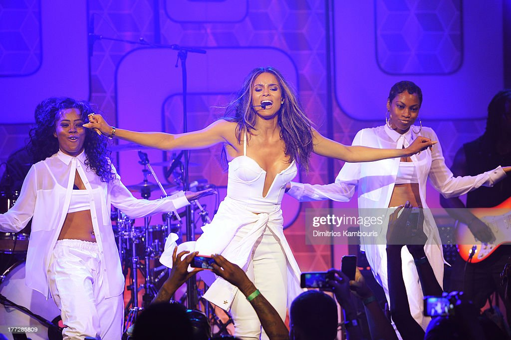 Musician Ciara (C) performs at Easy, Breezy, Brooklyn hosted by Becky G and presented by MTV and COVERGIRL at Music Hall of Williamsburg on August 22, 2013 in the Brooklyn borough of New York City.