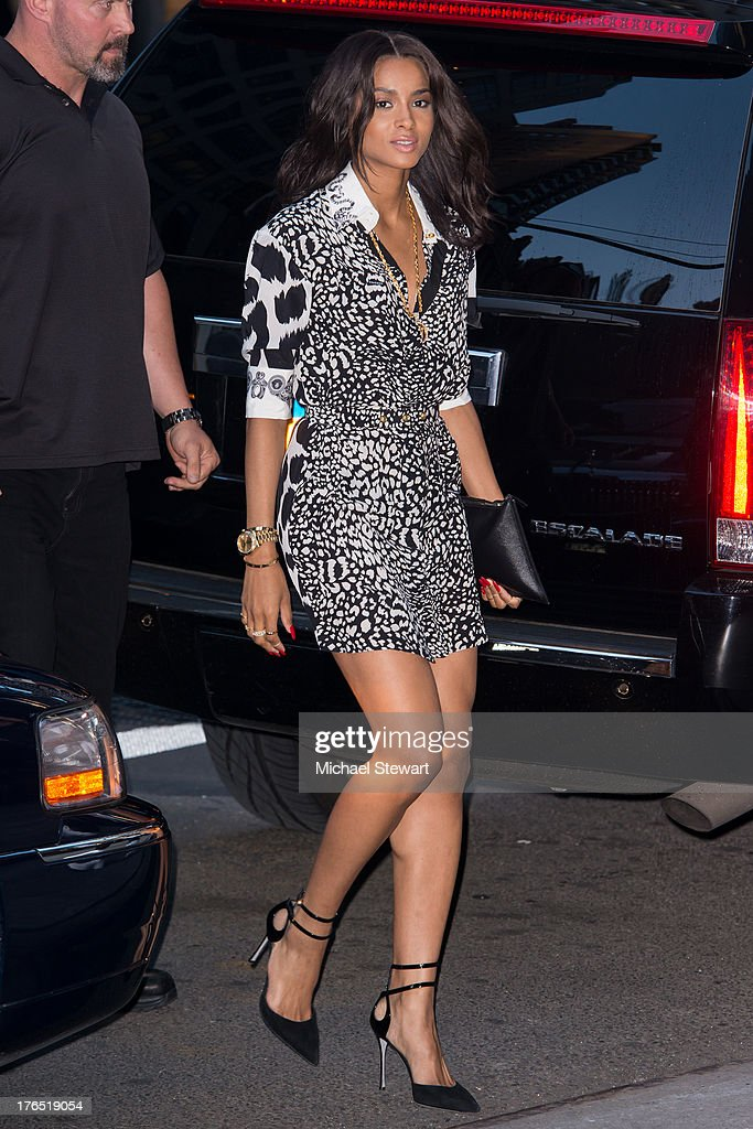 Musician Ciara seen on the streets of Manhattan on August 14, 2013 in New York City.