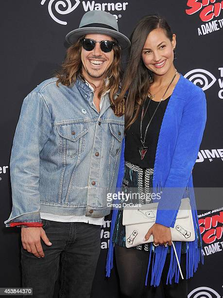 Musician Cisco Adler and Barbara Stoyanoff arrive at the Los Angeles premiere of 'Sin City A Dame To Kill For' at TCL Chinese Theatre on August 19...