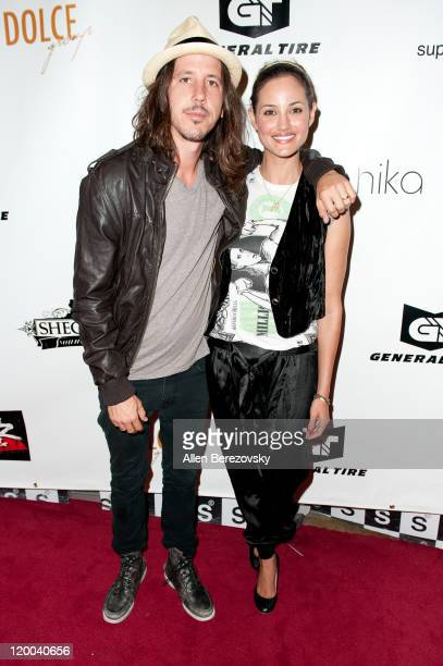 Musician Cisco Adler of Whitestarr and his girlfriend arrive at the X Games Kickoff Extravaganza hosted by The Hangover Defense at SupperClub Los...