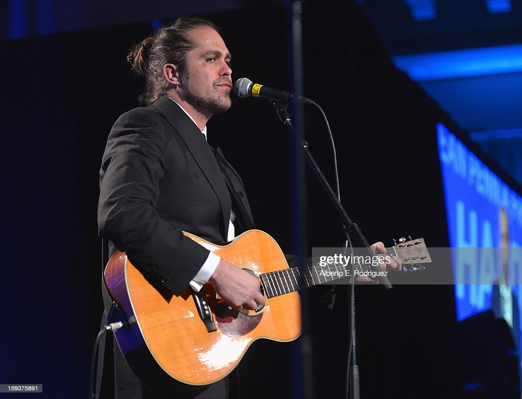 Musician <a gi-track='captionPersonalityLinkClicked' href=/galleries/search?phrase=Citizen+Cope&family=editorial&specificpeople=637123 ng-click='$event.stopPropagation()'>Citizen Cope</a> performs during the 2nd Annual Sean Penn and Friends Help Haiti Home Gala benefiting J/P HRO presented by Giorgio Armani at Montage Hotel on January 12, 2013 in Los Angeles, California.