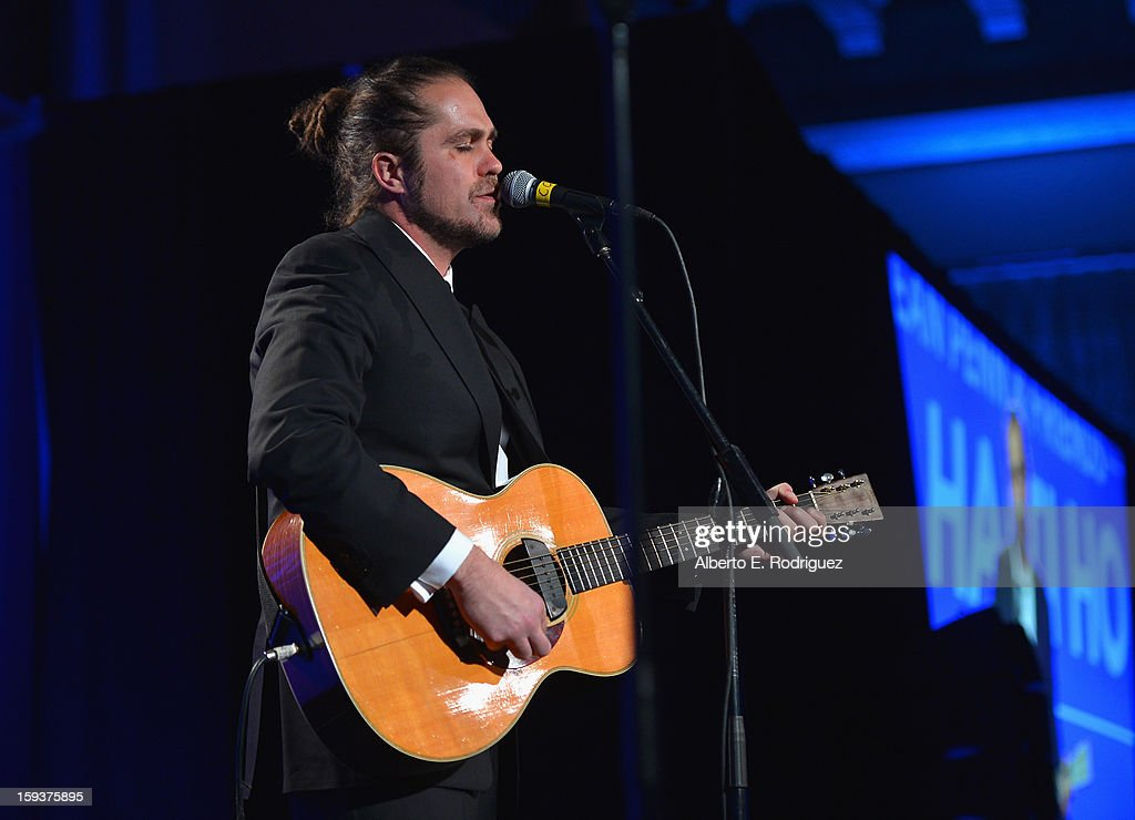 Musician Citizen Cope performs during the 2nd Annual Sean Penn and Friends Help Haiti Home Gala benefiting J/P HRO presented by Giorgio Armani at Montage Hotel on January 12, 2013 in Los Angeles, California.