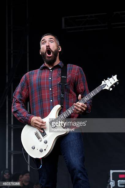 Musician Clint Lowery from Sevendust performs during the 'Louder Than Life' festival at Champions Park on October 3 2015 in Louisville Kentucky