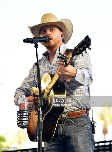 Musician Cody Johnson performs on the Palomino stage during day 3 of 2017 Stagecoach California's Country Music Festival at the Empire Polo Club on...