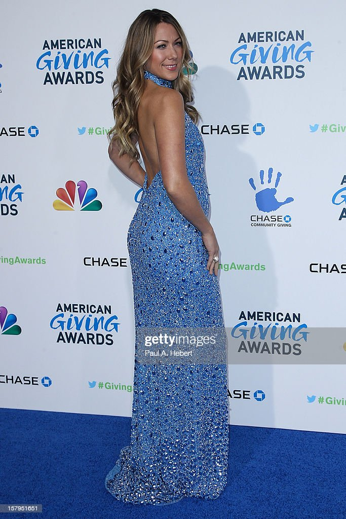 Musician Colbie Caillat arrives at the 2nd Annual American Giving Awards presented by Chase held at the Pasadena Civic Auditorium on December 7, 2012 in Pasadena, California.