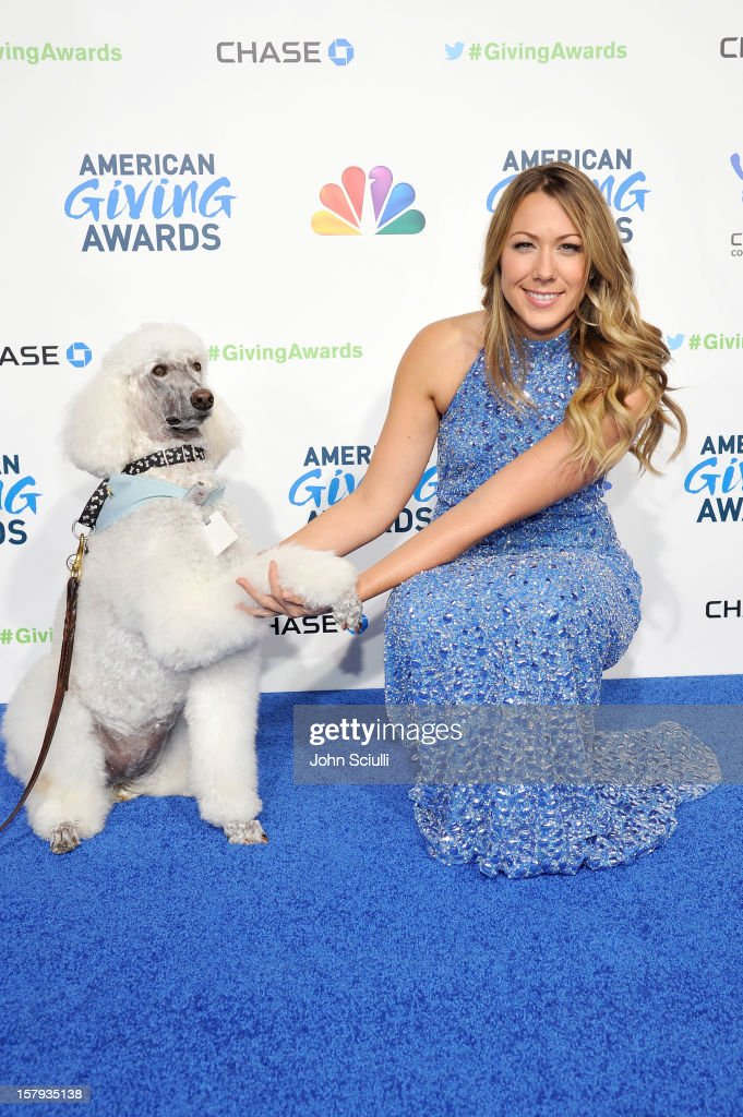 Musician Colbie Caillat arrives at the American Giving Awards presented by Chase held at the Pasadena Civic Auditorium on December 7 2012 in Pasadena...