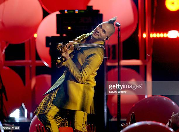 Musician Cole Whittle of DNCE performs onstage during the 2016 Billboard Music Awards at TMobile Arena on May 22 2016 in Las Vegas Nevada