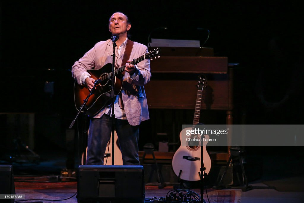 Musician Colin Hay performs during A Prairie Home Companion taping at The Greek Theatre on June 7, 2013 in Los Angeles, California.