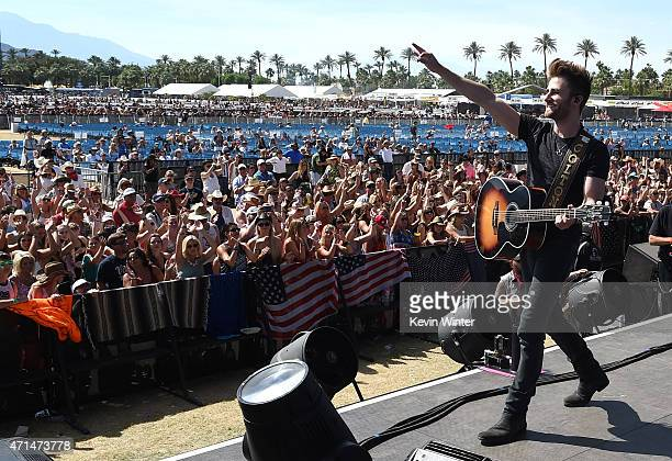 Musician Colton Swon of The Swon Brothers performs onstage day three of 2015 Stagecoach California's Country Music Festival at The Empire Polo Club...