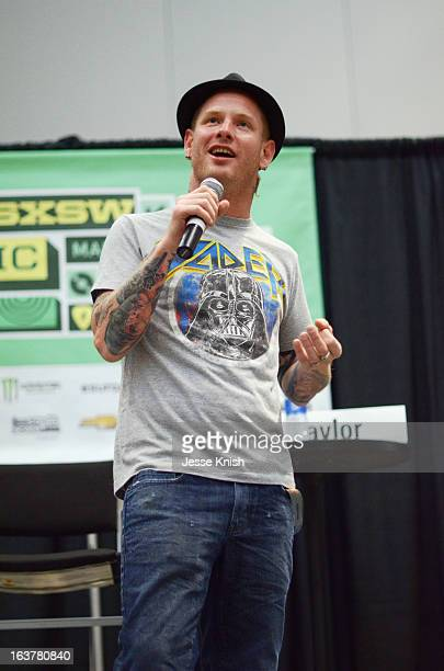 Musician Corey Taylor speaks onstage at What the Hell Was That Corey Taylor The Art of Making Mistakes during the 2013 SXSW Music Film Interactive...