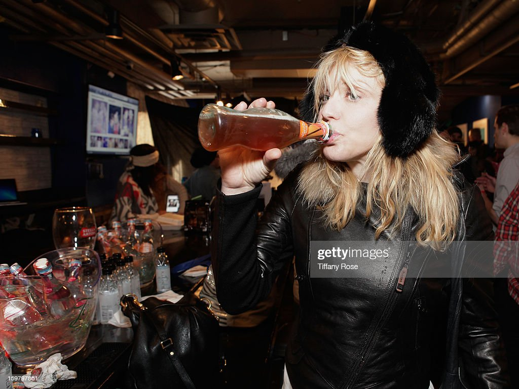 Musician Courtney Love attends Day 3 of Tea of a Kind at Village At The Lift 2013 on January 20, 2013 in Park City, Utah.