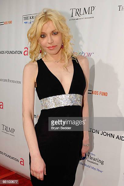Musician Courtney Love attends the 8th Annual Elton John AIDS Foundation�s 'An Enduring Vision' benefit at Cipriani Wall Street on November 16 2009...