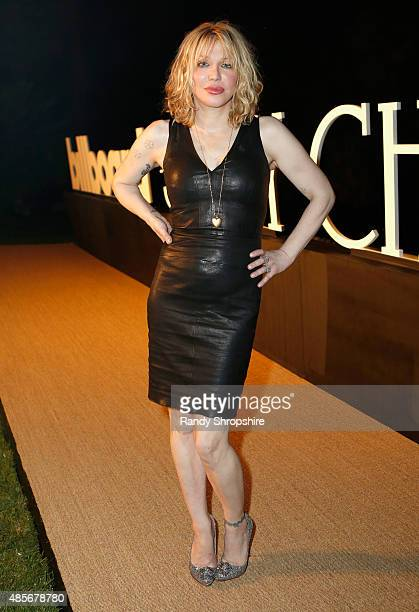 Musician Courtney Love attends the Billboard Jimmy Choo Music's Men of Style at a Private Residence on August 28 2015 in Los Angeles California