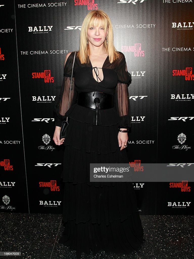 Musician Courtney Love attends The Cinema Society With Chrysler & Bally Host The Premiere Of 'Stand Up Guys' at The Museum of Modern Art on December 9, 2012 in New York City.
