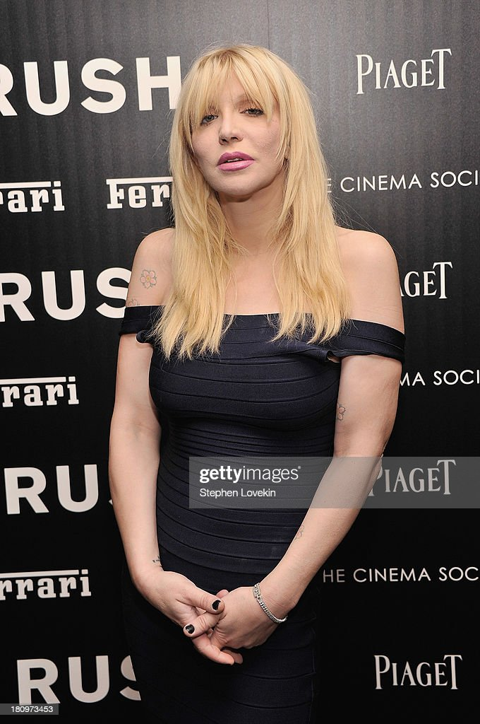 Musician <a gi-track='captionPersonalityLinkClicked' href=/galleries/search?phrase=Courtney+Love&family=editorial&specificpeople=156418 ng-click='$event.stopPropagation()'>Courtney Love</a> attends the Ferrari and The Cinema Society Screening of 'Rush' at Chelsea Clearview Cinemas on September 18, 2013 in New York City.