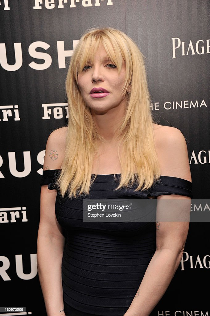 Musician Courtney Love attends the Ferrari and The Cinema Society Screening of 'Rush' at Chelsea Clearview Cinemas on September 18, 2013 in New York City.