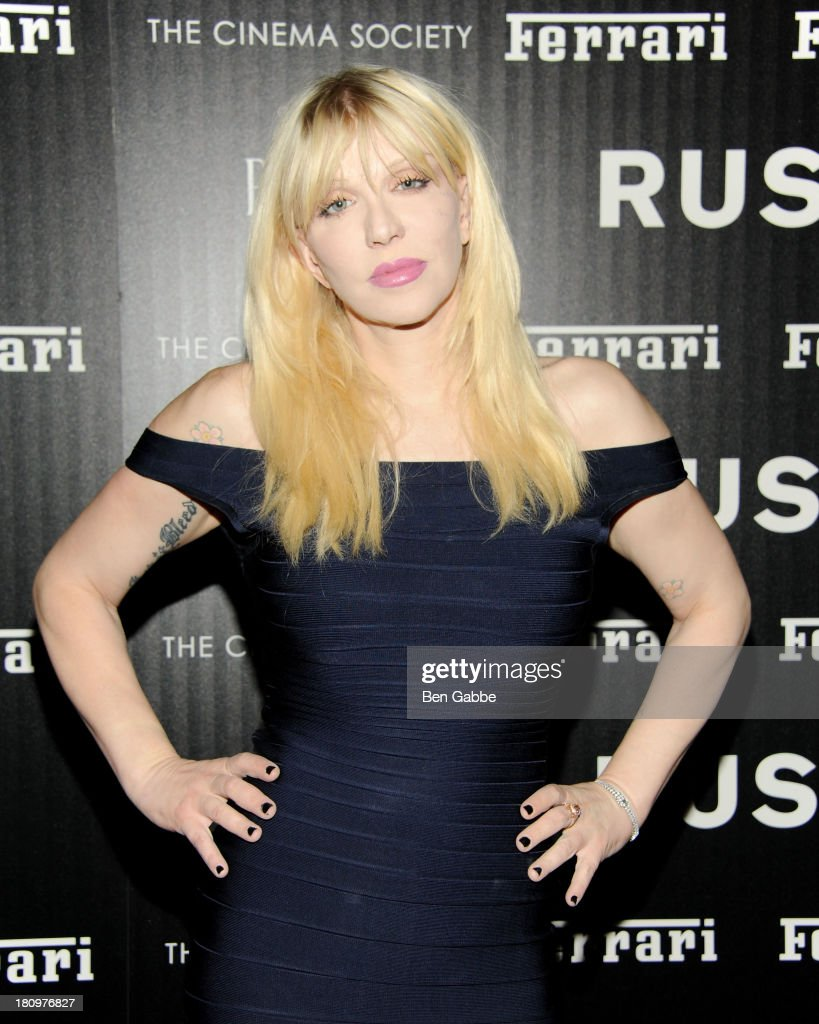 Musician <a gi-track='captionPersonalityLinkClicked' href=/galleries/search?phrase=Courtney+Love&family=editorial&specificpeople=156418 ng-click='$event.stopPropagation()'>Courtney Love</a> attends the Ferrari & The Cinema Society screening of 'Rush' at Chelsea Clearview Cinemas on September 18, 2013 in New York City.