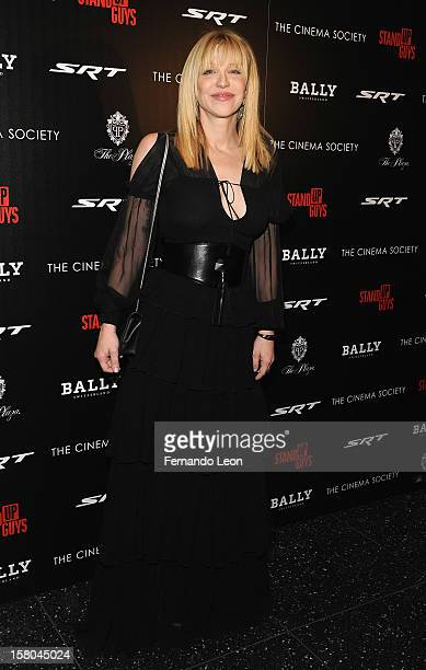Musician Courtney Love attends the premiere of 'Stand Up Guys' hosted by The Cinema Society with Chrysler and Bally at MOMA on December 9 2012 in New...
