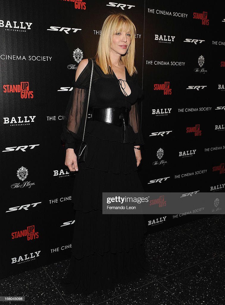 Musician Courtney Love attends the premiere of 'Stand Up Guys' hosted by The Cinema Society with Chrysler and Bally at MOMA on December 9, 2012 in New York City.