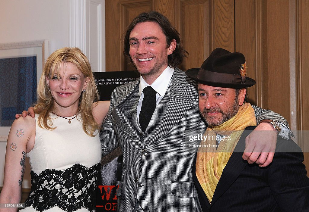 Musician Courtney Love, director/writer Jay Bulger and producer Fisher Stevens attend the 'Beware Of Mr. Baker' New York Screening at Crosby Street Hotel on November 27, 2012 in New York City.