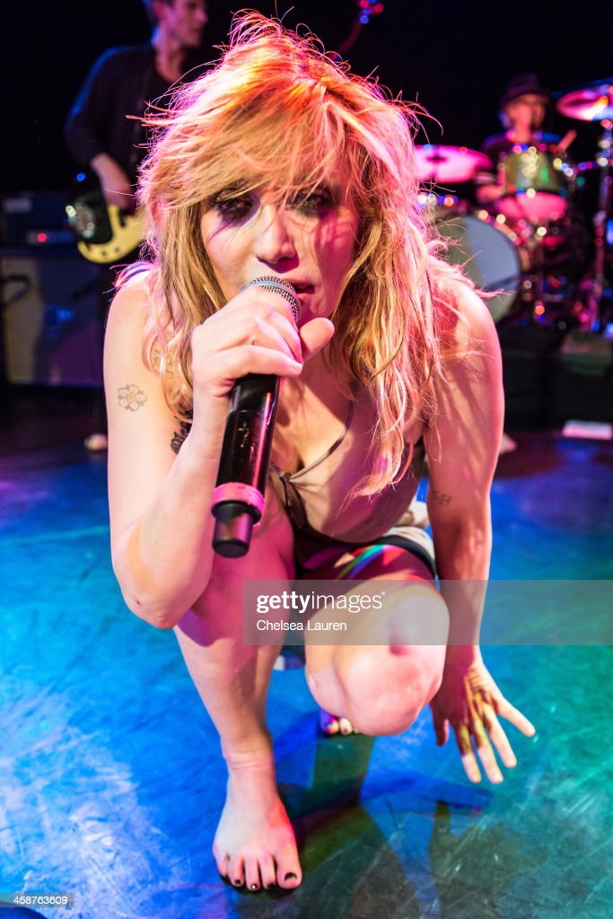 Musician <a gi-track='captionPersonalityLinkClicked' href=/galleries/search?phrase=Courtney+Love&family=editorial&specificpeople=156418 ng-click='$event.stopPropagation()'>Courtney Love</a> performs during the Camp Freddy holiday residency at The Roxy Theatre on December 20, 2013 in West Hollywood, California.